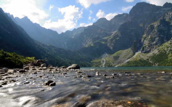 горы, клипы, oko, полировка, tatra, пейзажи -, озеро, everything, landscape, камни, прекрасные,