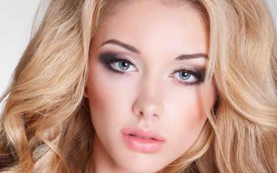 макияж, глаз, серых, блондинок, голубых, макияжа, глазами, волосы, девушка,