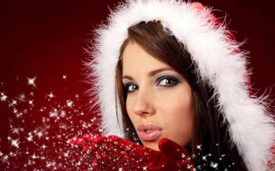 tenge, год, new, снегурочки, снегурочки, макияж, праздник, женщина, картинка, песнь,
