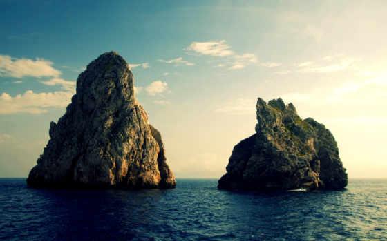 скалы, medes, природа, пейзажи -, море, которые, широкоформатные, everything, islands,