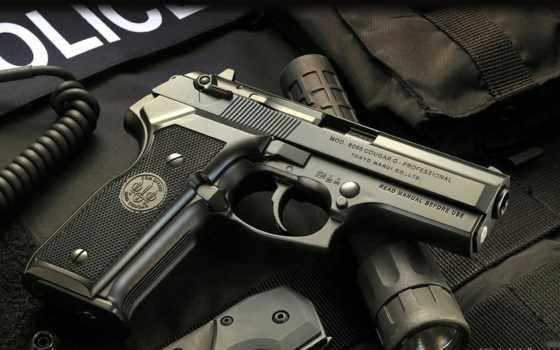 оружие, пистолет, беретта, cougar, фонарь, нож, полиция, экипировка