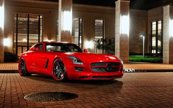 mercedes, sls, noc, benz, than, машина, cars, авто, amg,