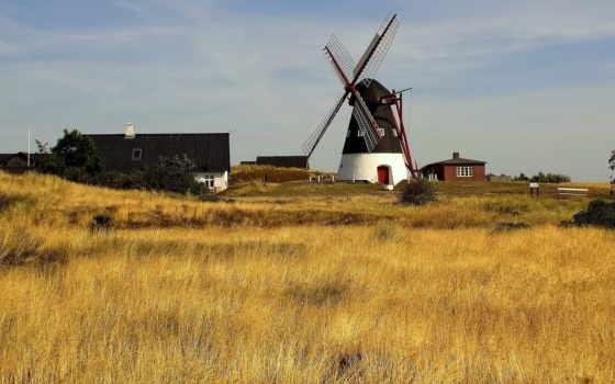 mill, поле, house