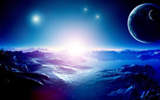 планеты, гладь, cosmos, графика, картинка, planets, звезды,