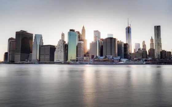 new, город, york, набережная, река, ny, небоскребы, весна, dumbo, сша,