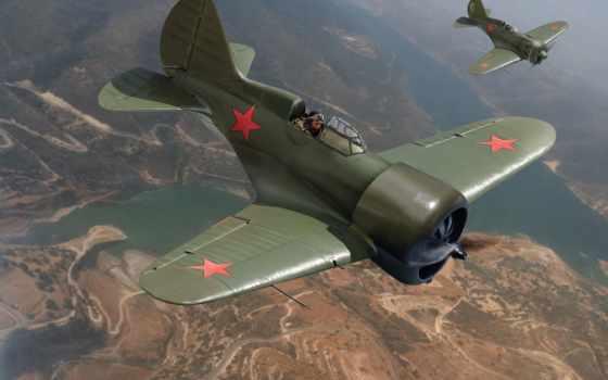 одномоторные, советские, art, самолеты, цкб, небо, авиация, истребители,