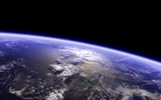 land, орбита, planet, cosmos, земли, космоса, art, орбиты, высоком,