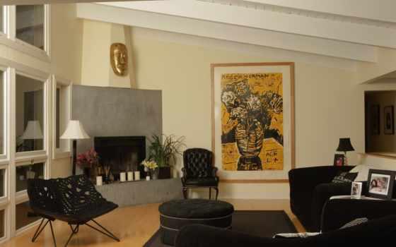 комната в черном стиле