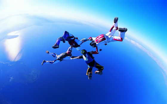 skydiving, wallpapers