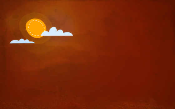 облака солнце kata, минимализм