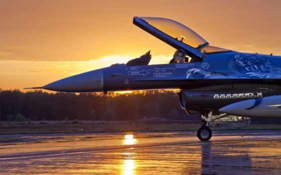 авиация, закат, falcon