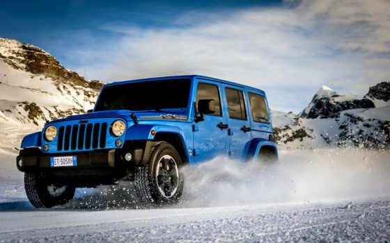 wrangler, jeep, polar, машина, car, авто, горы, снег,
