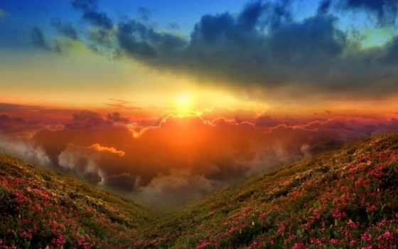 небо, закат, sun Фон № 56937 разрешение 1920x1080