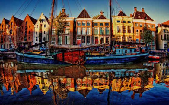 нидерланды, города, река