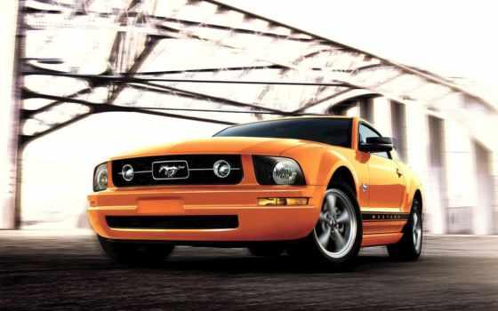 ford, mustang, оранжевые, автомобили, заставка, машины, оранжевого,