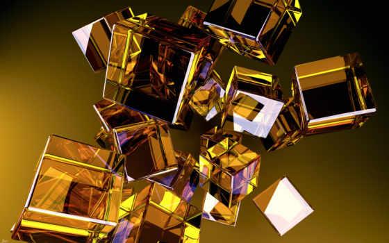 кубики, cubes, glass, абстракция, abstract, желтые, desktop, вид, download, разное, стеклянные,