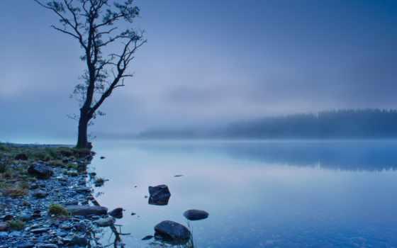озеро, шотландия