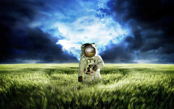 космонавт, поле, масть