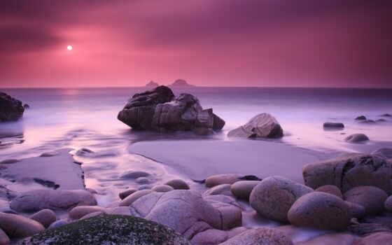 море, закат, камни Фон № 88469 разрешение 2560x1440