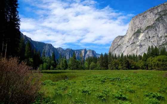 yosemite, national, park, долина, mountains, landscape, pictures,