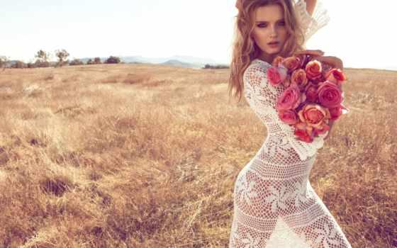 букет, цветов, цветами, цветы, оформить, девушка, букеты, органзу,