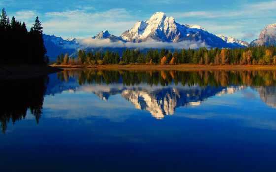 wyoming, горы, desktop, природа, озеро, сша, телефон,