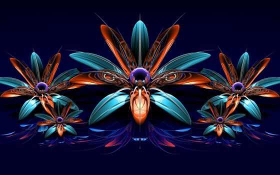 cvety, fractal, букет, телефон,