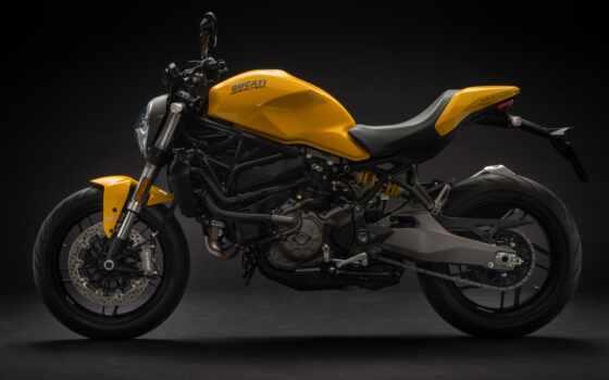 ducatus, monster, yellow, мотоцикл