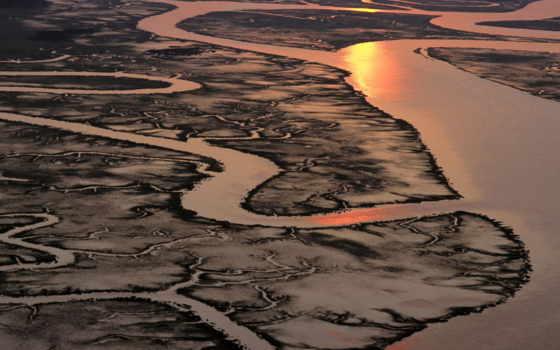 marsh, salt, carolina, south, aerial, view, wallpa