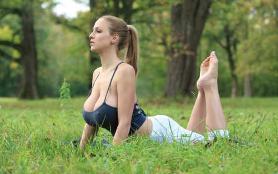 йога, девушка
