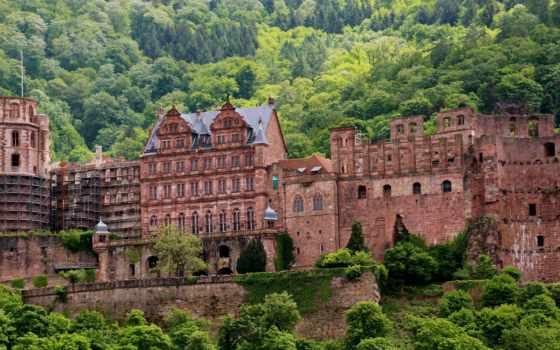 германия, heidelberg, замок, города, замки, шверин,