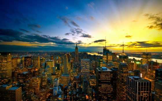 город, york, new
