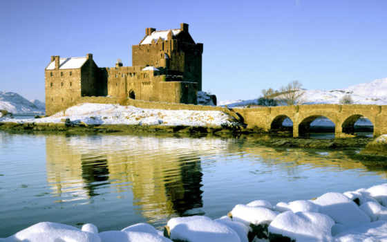 castle, эйлен, донан, замок, снег, шотландия, зима, eilean, loch, duich, western, highlands, resimleri, картинка, kış,