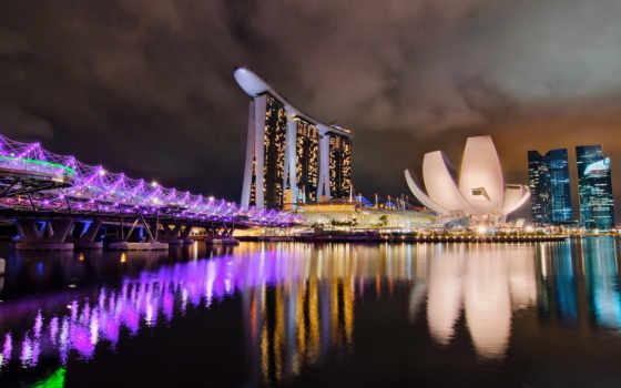 singapore, ночи, остров