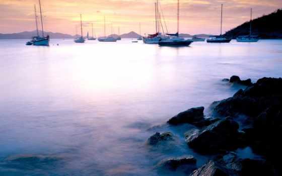 john, caribbean, islands, johns, bay, тихий, сквозь,