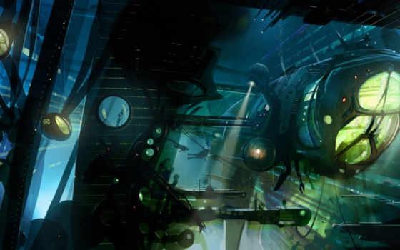 abyss, корабль, art