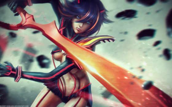 kill, ryuko, если, fantasy,