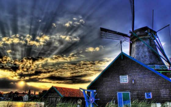map, нидерланды, голландии, русском, языке, hdr, ветряные, мельницы, сайт, everything, what,