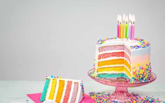 birthday, торт, colorful, cakes, candles, sprinkles, радуга, stock, ideas,