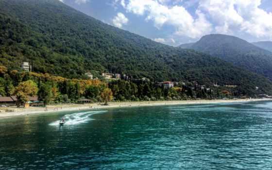 абхазия, море, август, tourist, hotel