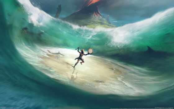 art, concept, май, ocean, содержать, лицо, game, outdoor
