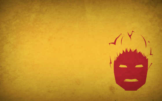 минимализм, nightcrawler, marvel, men, face, fiery, лицо, широкоформатные, comics, огненное,