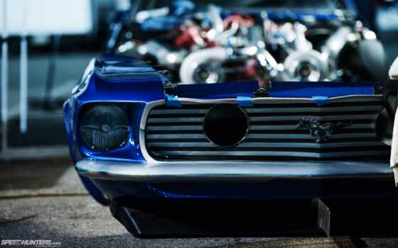 ford, mustang, blue