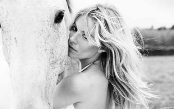 фотографии, девушки, лошади