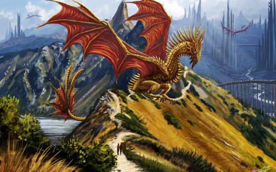 драконы, art, дракон