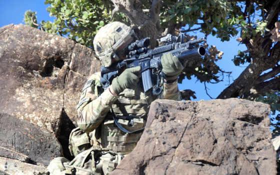 солдат, оружие, мужчины
