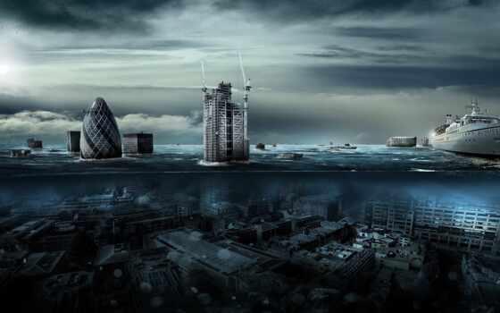 апокалипсис, город, потоп