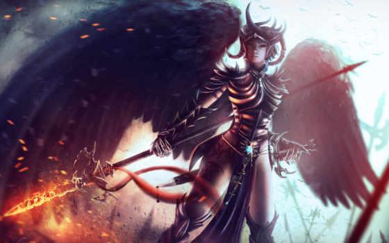 fantasy, девушка, ангелы