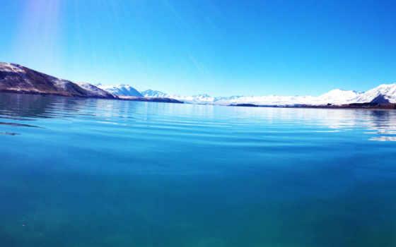 tekapo, озеро, природа