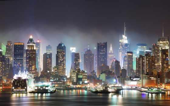 фотообои, город, города, ночь, ночного, фотообоев, огни, спальни, каталог, оплата, article,